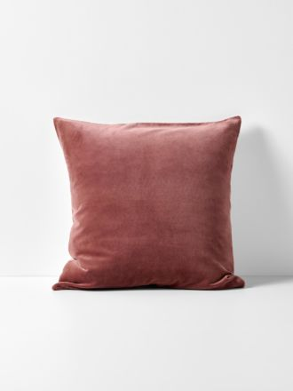 Luxury Velvet Cushion - Mahogany
