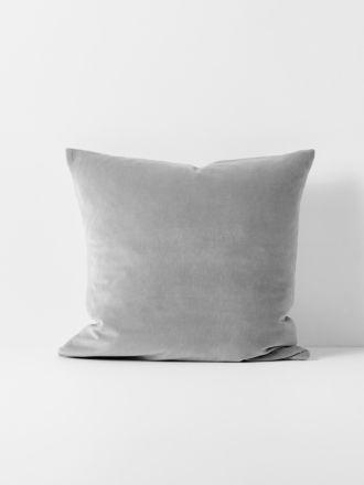 Luxury Velvet Cushion - Pebble