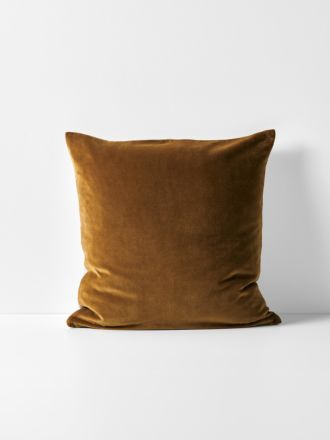 Luxury Velvet Cushion - Tobacco