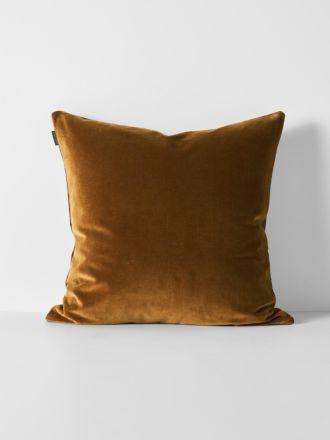Luxury Velvet European Pillowcase - Tobacco