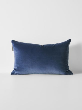 Luxury Velvet Rectangle Cushion - Bijou Blue