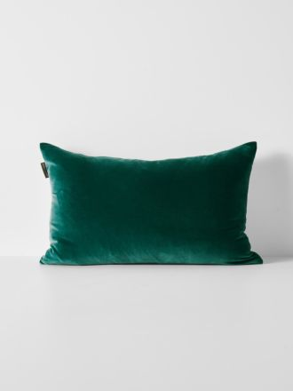 Luxury Velvet Rectangle Cushion - Forest Night