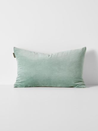 Luxury Velvet Rectangle Cushion - Jade