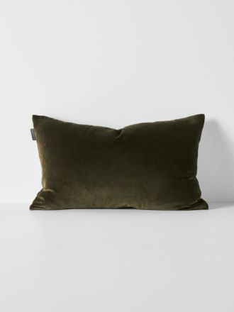Luxury Velvet Rectangle Cushion - Khaki