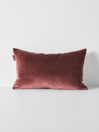 Luxury Velvet Rectangle Cushion - Mahogany