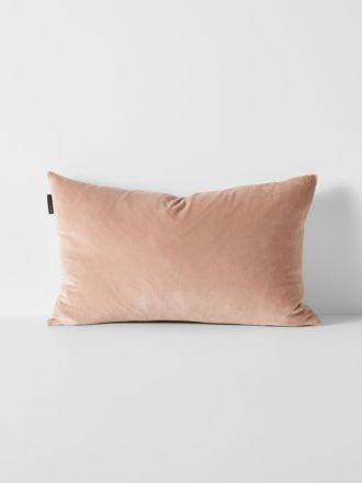 Luxury Velvet Rectangle Cushion - Rosewater