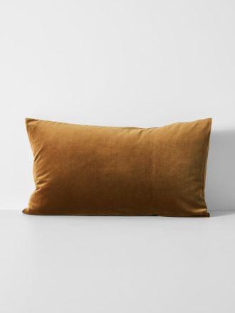 Luxury Velvet Standard Pillowcase - Tobacco