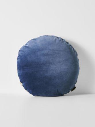 Luxury Velvet 45cm Round Cushion - Bijou Blue
