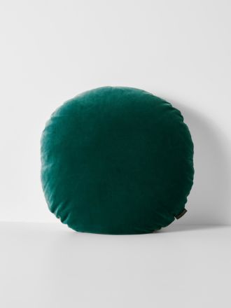 Luxury Velvet 55cm Round Cushion - Forest Night