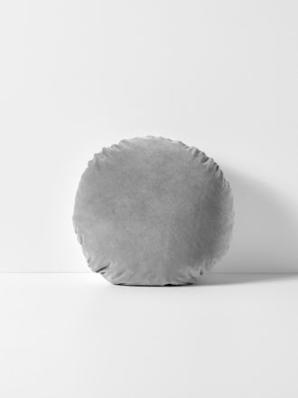 Luxury Velvet 45cm Round Cushion - Pebble