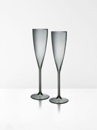Champagne Flutes set of 2 by Maison Balzac - Smoke