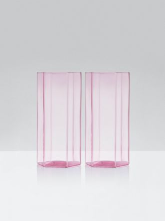Coucou Tall Glasses Set of 2 by Maison Balzac - Pink