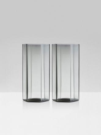 Coucou Tall Glasses Set of 2 by Maison Balzac - Smoke