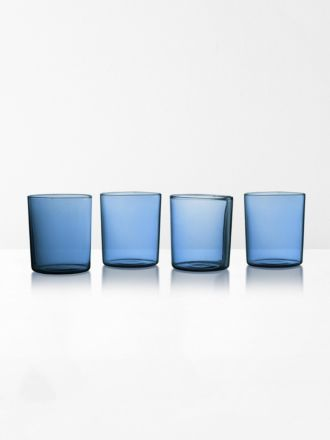 Glasses set of 4 by Maison Balzac - Azure