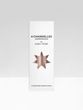 Clay Chandelles 4Pk Tapered Candles by Maison Balzac x Aura