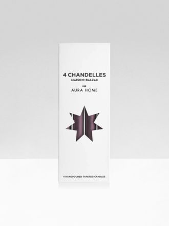 Fig Chandelles 4Pk Tapered Candles by Maison Balzac x Aura