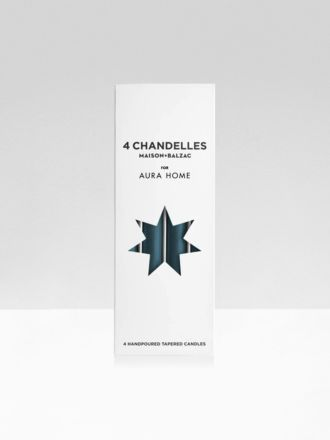 Indian Teal Chandelles 4Pk Tapered Candles by Maison Balzac x Aura