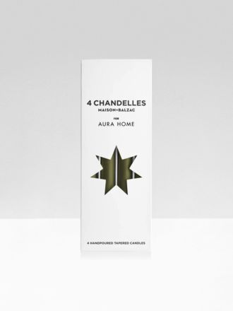 Khaki Chandelles 4Pk Tapered Candles by Maison Balzac x Aura