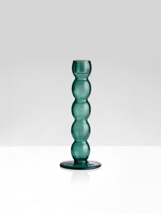 Teal Volute Candleholder by Maison Balzac