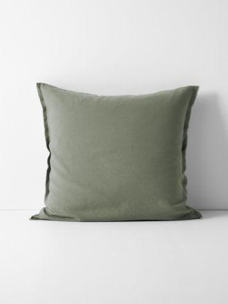 Maison Fringe European Pillowcase - Khaki