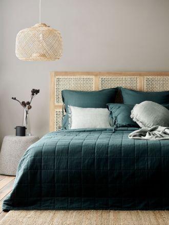 Maison Vintage Bed Cover - Indian Teal