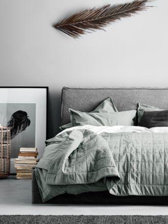 Maison Vintage Bed Cover - Limestone