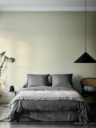 Maison Vintage Quilt Cover - Charcoal
