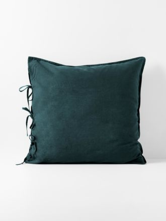 Maison Vintage European Pillowcase - Indian Teal