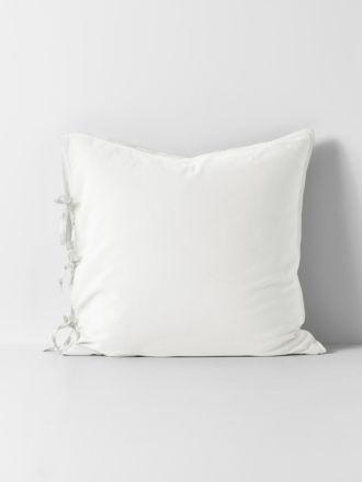 Maison Vintage European Pillowcase - White
