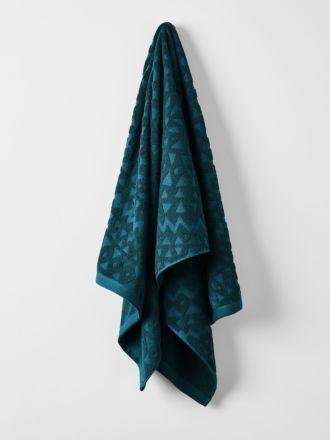 Maya Bath Towel - Indian Teal