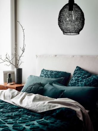 Maya European Pillowcase - Indian Teal
