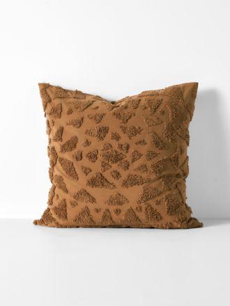 Maya European Pillowcase - Caramel