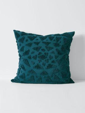 Maya European Pillowcase - Indian Teal