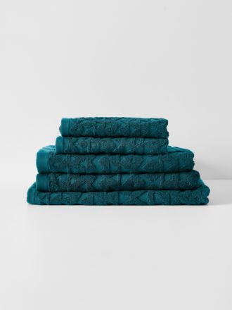 Maya Bath Towel Set - Indian Teal