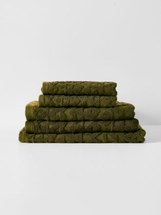 Maya Bath Towel Set - Khaki