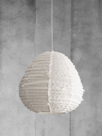 Fringed Linen Light Shade - Vanilla