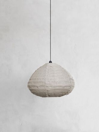 Fringed Linen Light Shade - Natural