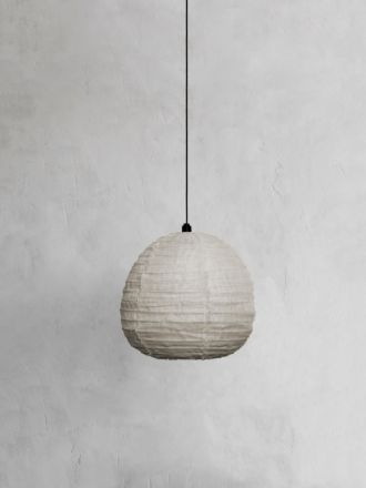 Fringed Linen Light Shade Small - Natural