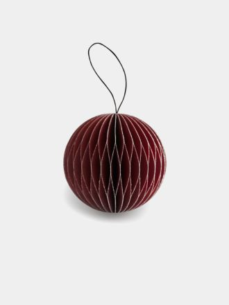 Paper Christmas Decoration - Red Glitter Bauble