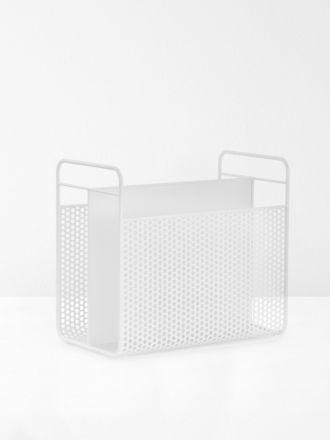 Analog Magazine Rack in White by Normann Copenhagen