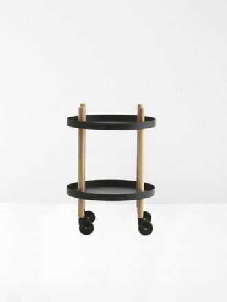 Block Circle Table in Black by Normann Copenhagen