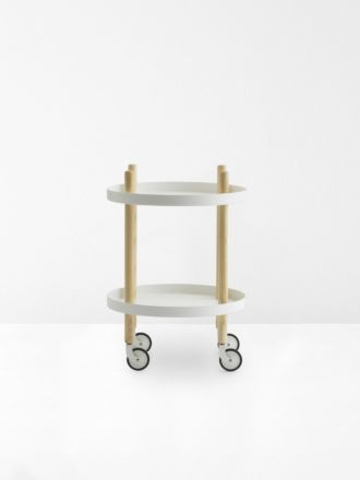 Block Circle Table in White by Normann Copenhagen