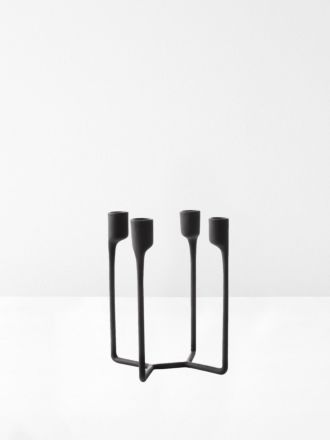 Heima 4 Armed Candlestick in Black by Normann Copenhagen