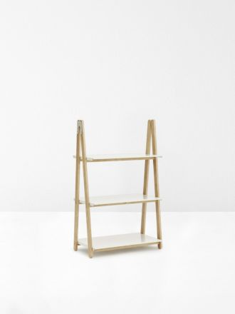 One Step Up Low Bookcase in White by Normann Copenhagen