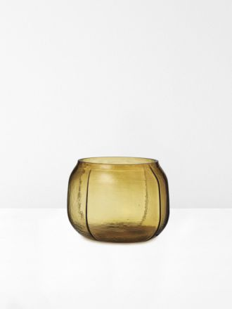Step Small Vase in Amber by Normann Copenhagen