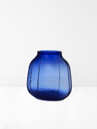Step Medium Vase in Blue by Normann Copenhagen