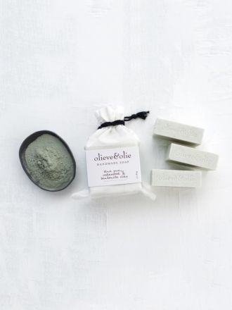 Blue Gum & Bentonite Clay 3 Pack Soap by Olieve