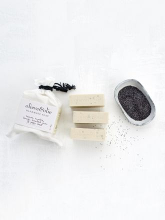 Lemon Myrtle & Poppy Seed 3 Pack Soap by Olieve