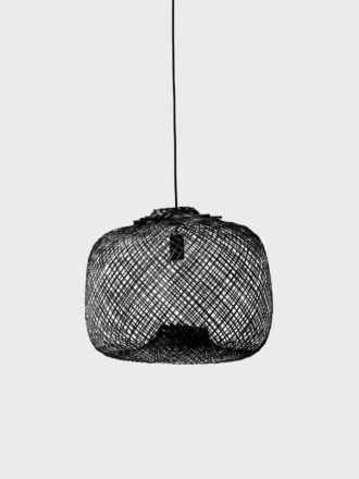 Laki Bamboo Light Shade Only - Black