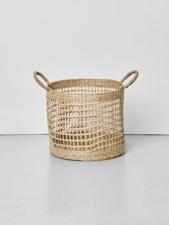 Lally Woven Basket with Loop Handle Large